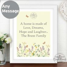 Personalised Country Diary Wild Flowers White Framed Poster Print P0512Y15